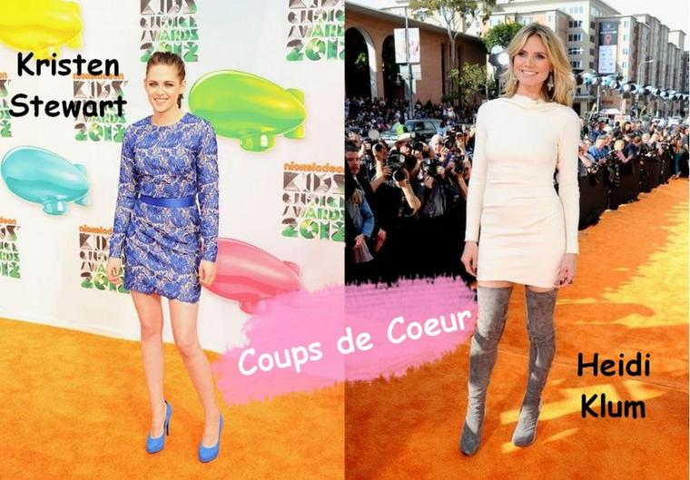 Les Tenues de Stars aux Kids Choice Awards 2012