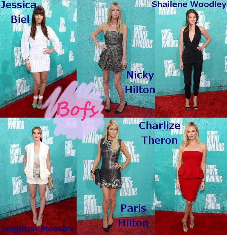 Les Tenues de Stars aux MTV Movie Awards 2012
