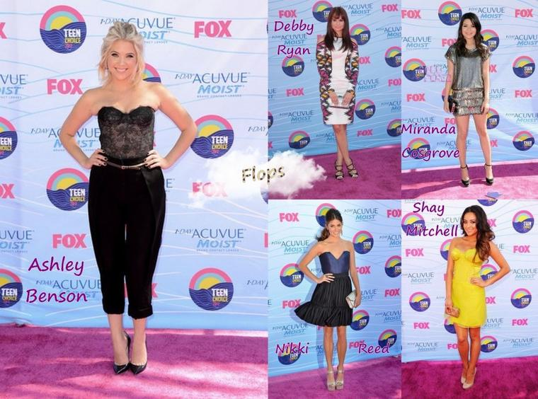 Les Tenues de Stars aux Teen Choice Awards 2012
