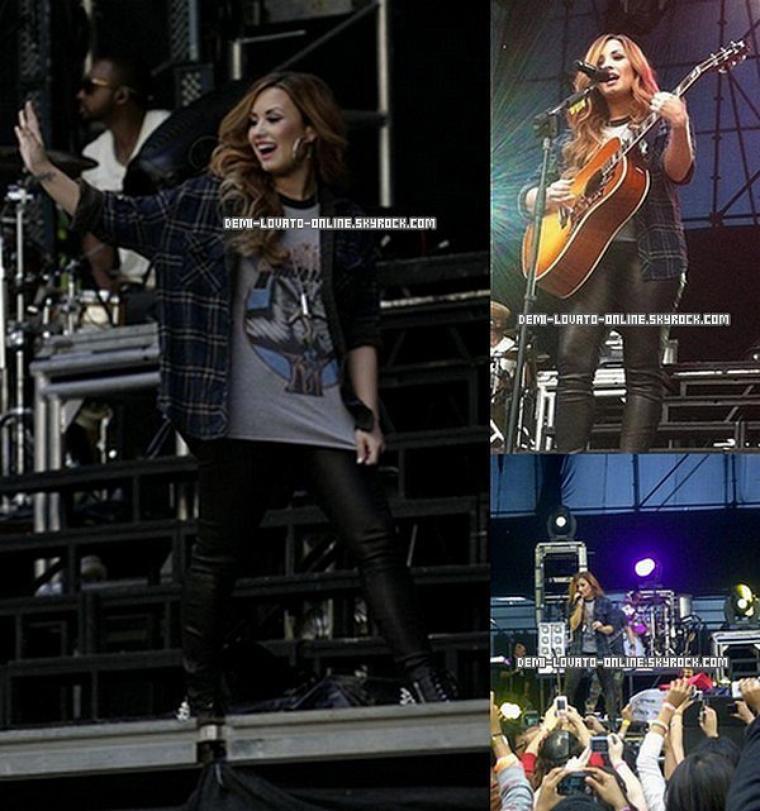 15/04/2012 Demi à Caracas, au Venezuela