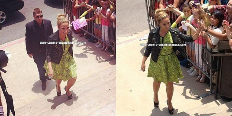 Demi aux auditions d'Austin, au Texas, pour X-Factor