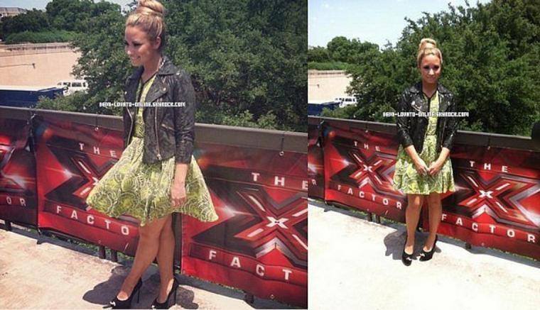 Demi aux auditions d'Austin, au Texas, pour X-Factor