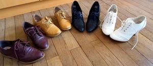 Parlons chiffons : #Collant en laine et #Richelieu, pas incompatible la preuve... #mode #chaussures