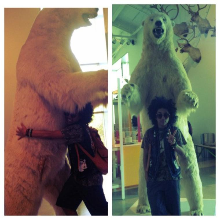 Princeton With His New Friend LOL