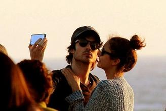 Nina Dobrev et Ian Somerhalder à Santa Monica le  25/06/2012