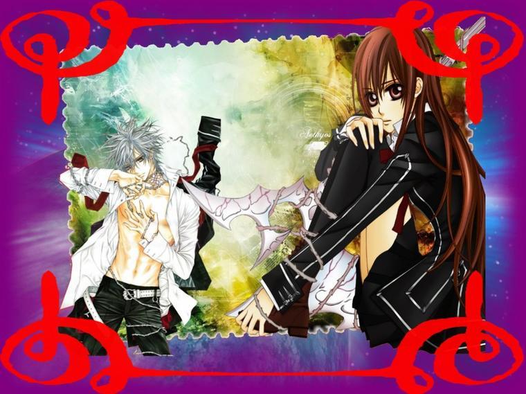 Image vampire knight yuki et zero fais par moi