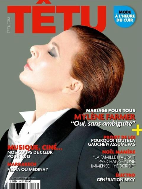 Mylène dans le  magazine Têtu ♥