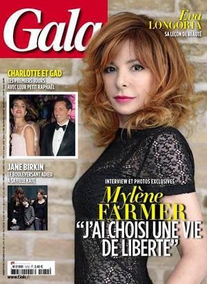 Mylène à la une de Gala le 24/12/13 : Interview Exclusive !! ♥