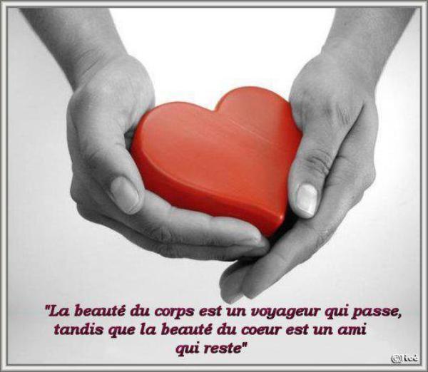 la beautèe     c est  dans le coeur     qu on le trouve