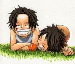 Ace, Luffy et Natsu.