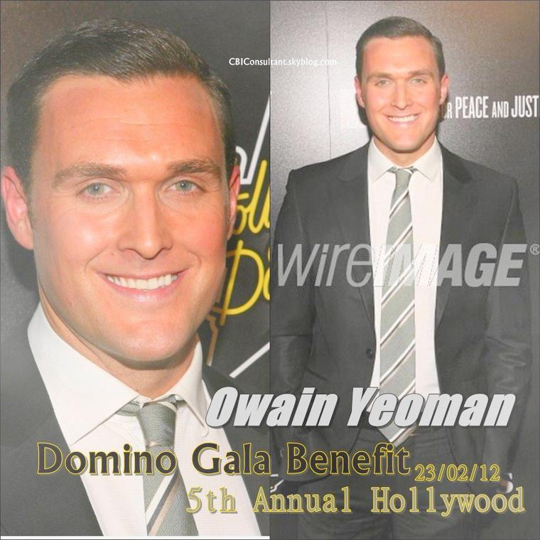 News de Owain Yeoman le 23/02/12 il était au 5th Annual Hollywood Domino Gala Benefit