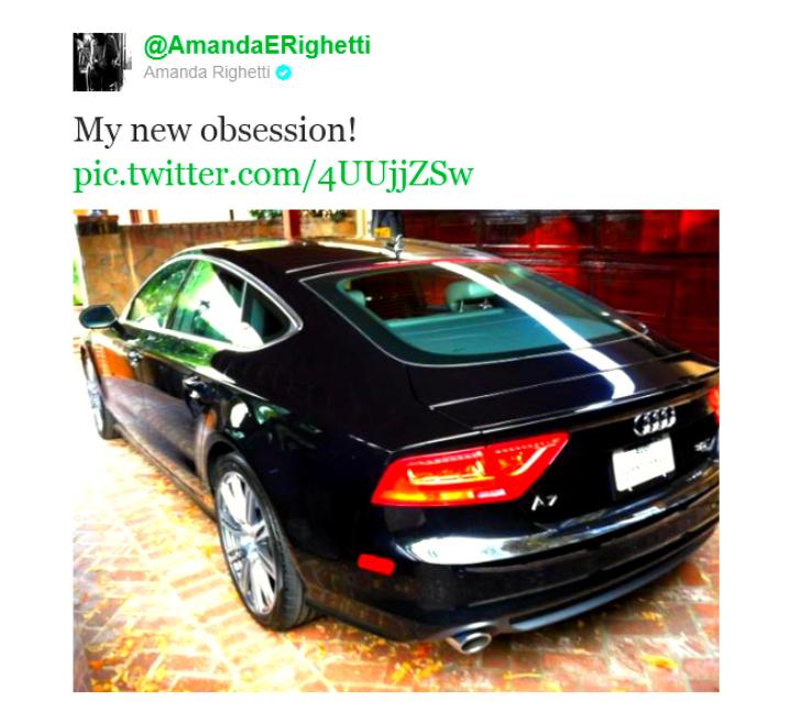 La nouvelle obsession d'Amanda c'est cette voiture !