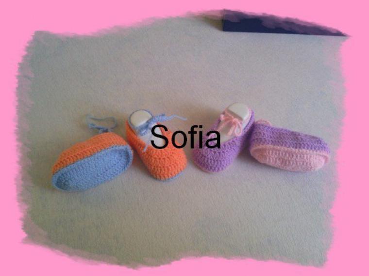 Chaussons colorés couleurs inversées