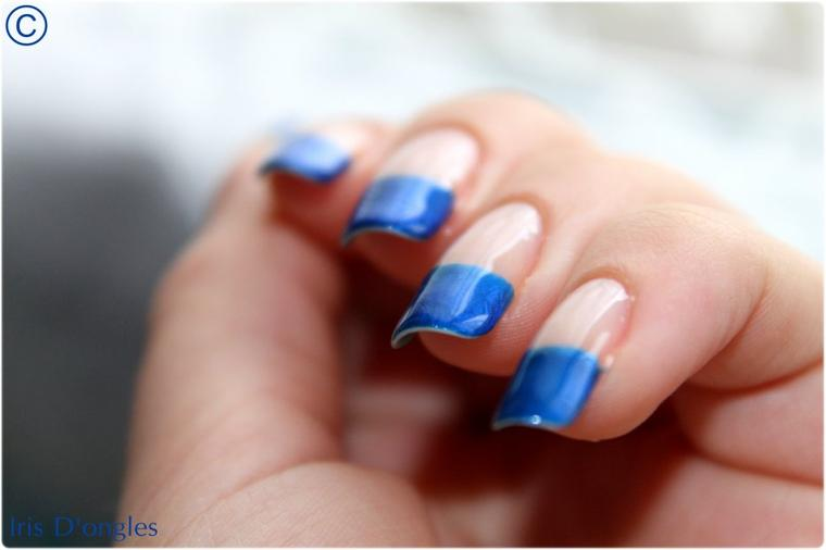 French Manucure Bleue (l)