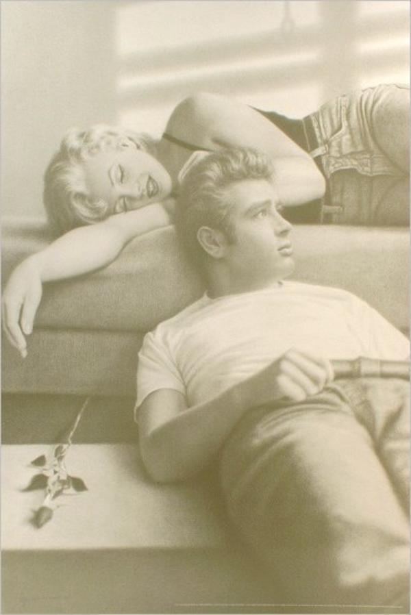 Deux Mythes du Cinéma  : Marilyn Monroe et James Dean