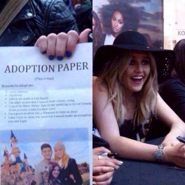 Une fan à demandé un autographe ....
