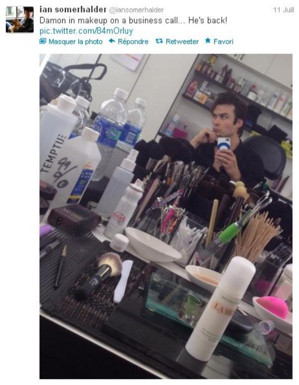 09/07/2012 Les acteurs de TVD ce sont exprimé sur leur twitter pour raconter leur premier jour de tournage