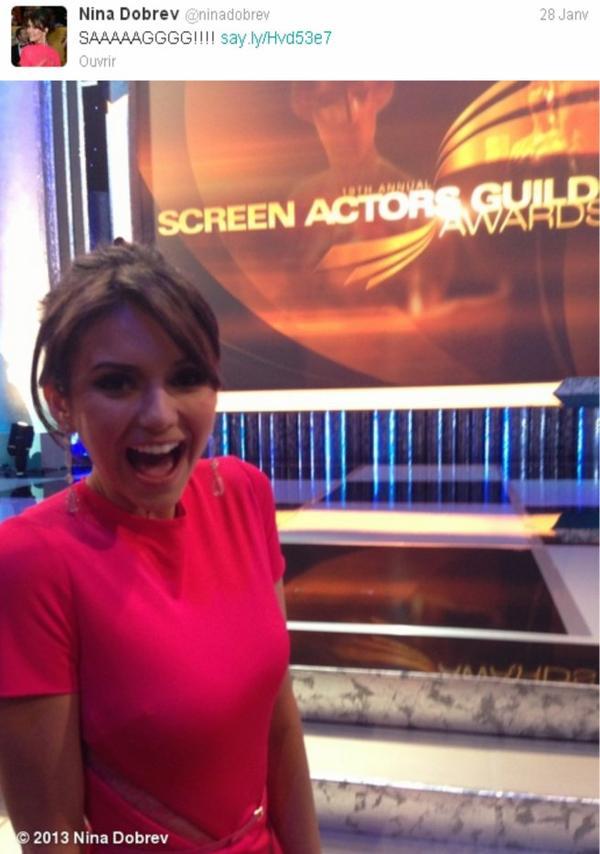 Le 28/01/2013 Nina a twitter : SAAAAAGGGG!!!!