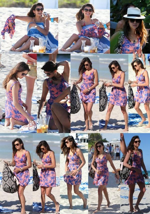 28/04/2013 Nina sortant de son hôtel à Miami en Floride