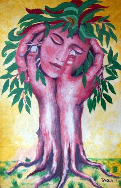 LA NATURE ( peinture a l'huile )