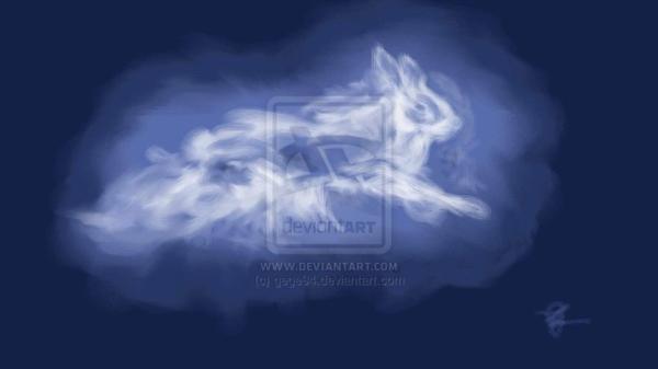 Le patronus d'Hermione et luna et de mc Gonagall