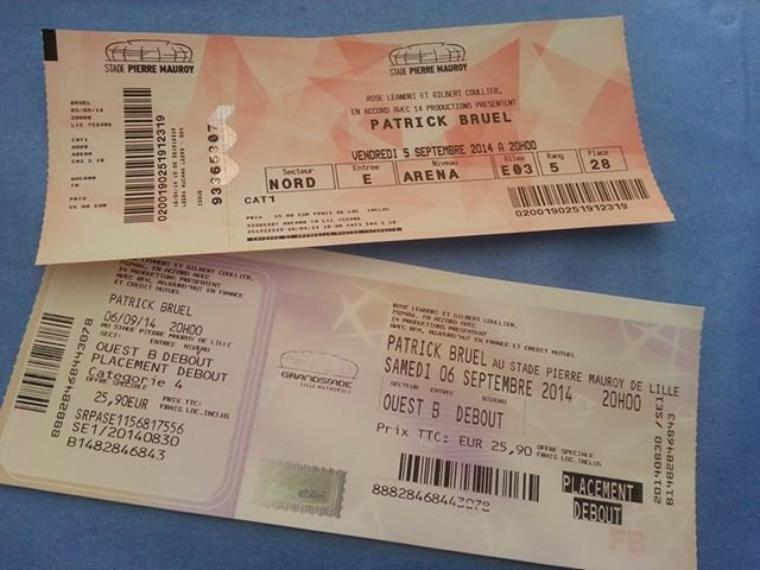 Diapo photos concert Patrick Bruel photos personnelles faites durant les 2 dates ! des 5 ET 6 SEPTEMBRE 2014