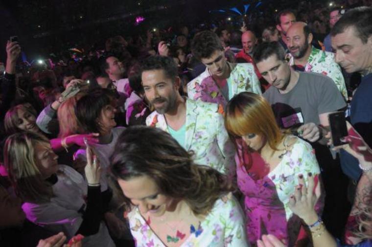 exclu Manu présent aux 7 dates de concert des enfoirés 2015  à Montpellier