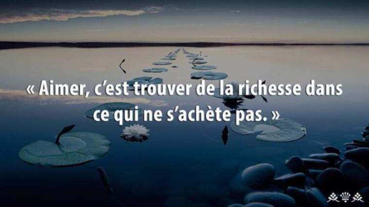 la richesse...