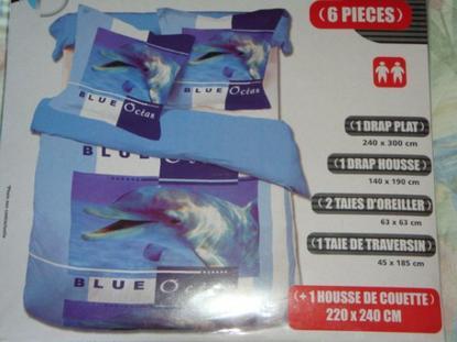 des draps pour le lit en dauphin