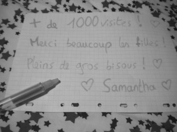 Plus de 1000 visites! ~Axelle & Samantha