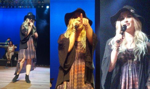 Soundcheck de Demi hier à Chicago