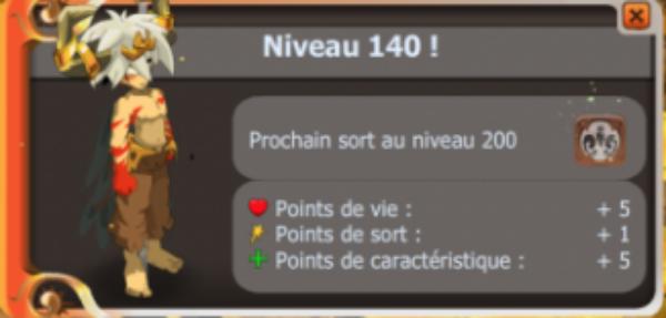 Up lvl 140