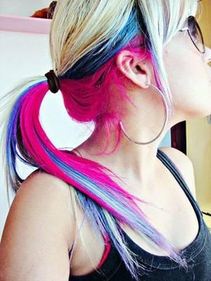 Colorer la partie inférieure des cheveux