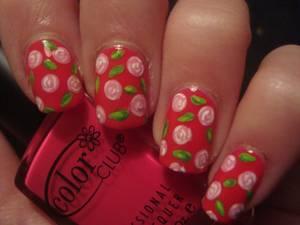Vintage Roses Nails