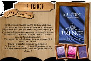 Nouvelles diverses: Le Prince / Sublimes Lunes / Le serment de Lenobia