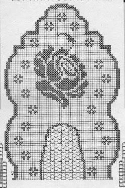 Grille rose au crochet