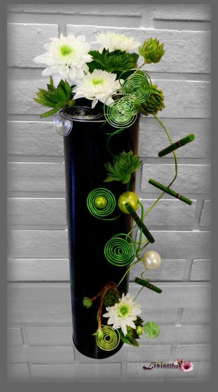 Tube Chrysantèmes & spirales de fil
