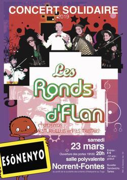 Soirée solidaire le 23 Mars avec les Ronds de Flan