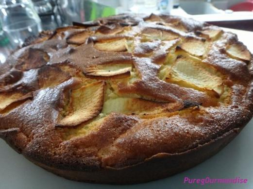 Moelleux de pommes au mascarpone