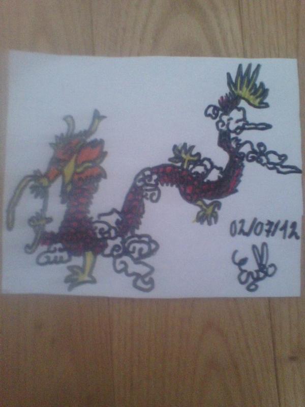 Petit dragon coloré