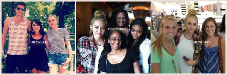 Découvrez les dernières photos de Miley et de ses fans dans Philadelphie !