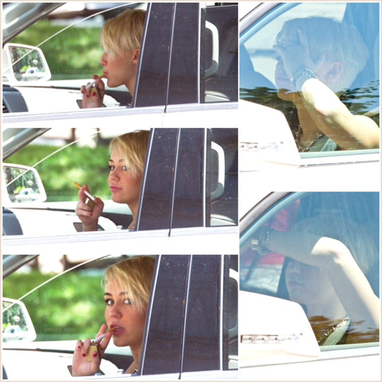 August 16th ; Miley a été vue au volant de sa voiture à Philadelphie.