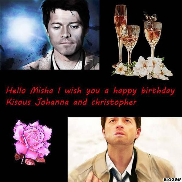 Happy Birthday to you misha the pars of your fans Belgian and French