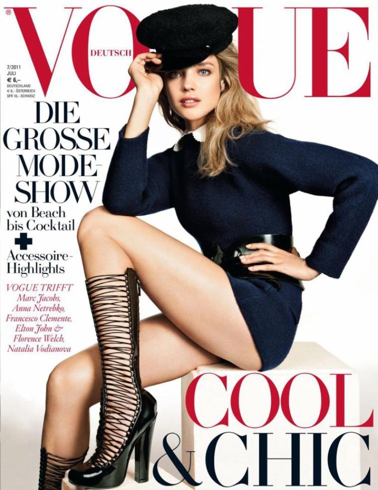 Natalia Vodianova | Vogue Allemagne Juillet 2011