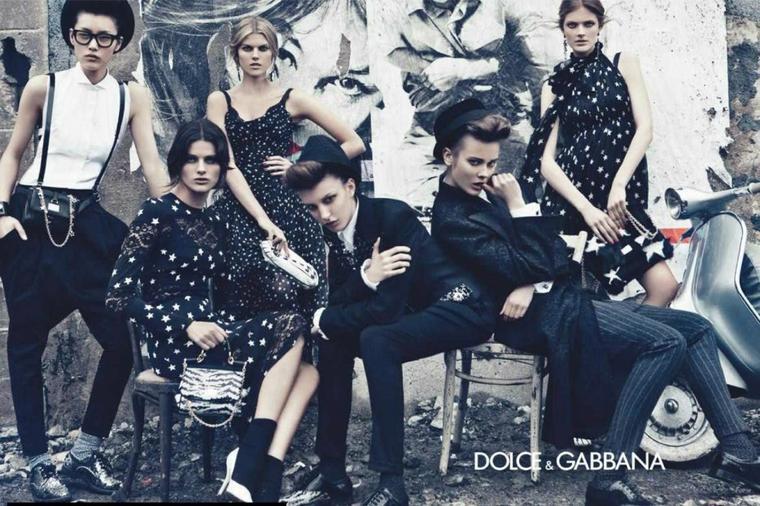 Constance Jablonski, Maryna Linchuk, Isabeli Fontana, Monika Jagaciak, Kate King & Liu Wen | Dolce & Gabbana F/W 11.12