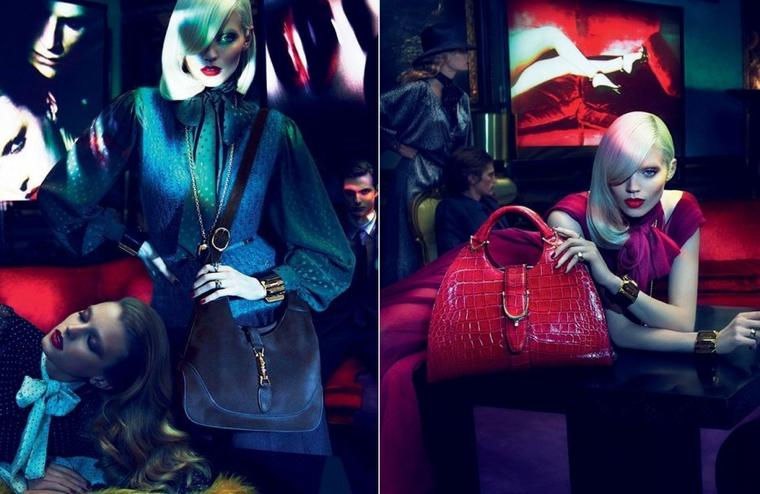 Sigrid Agren, Joan Smalls, Abbey Lee Kershaw & Emily Baker | Gucci F/W 11.12