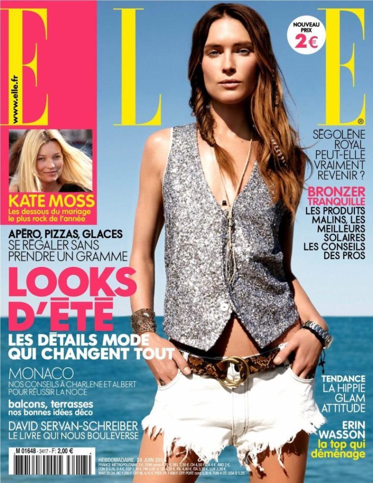 Erin Wasson | Elle France du 24 Juin 2011