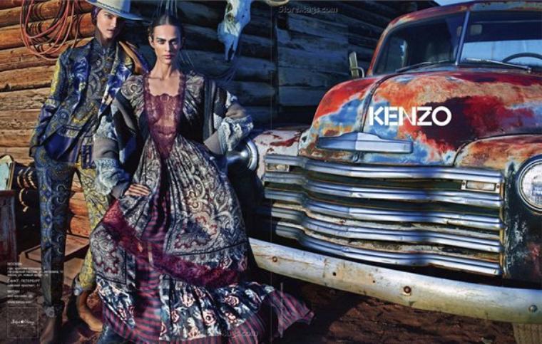 Aymeline Valade & Kasia Struss | Kenzo F/W 2011 - 2012