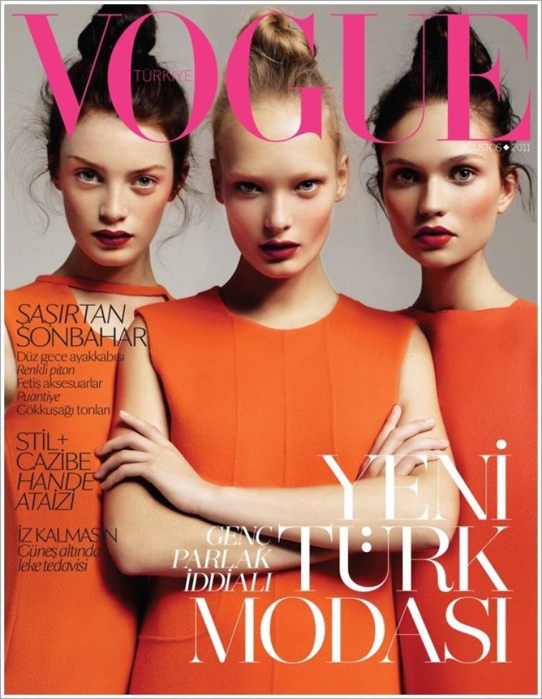 Milly Simmonds, Egle Jezepcikaite & Yana Sotnikova | Vogue Turquie Août 2011