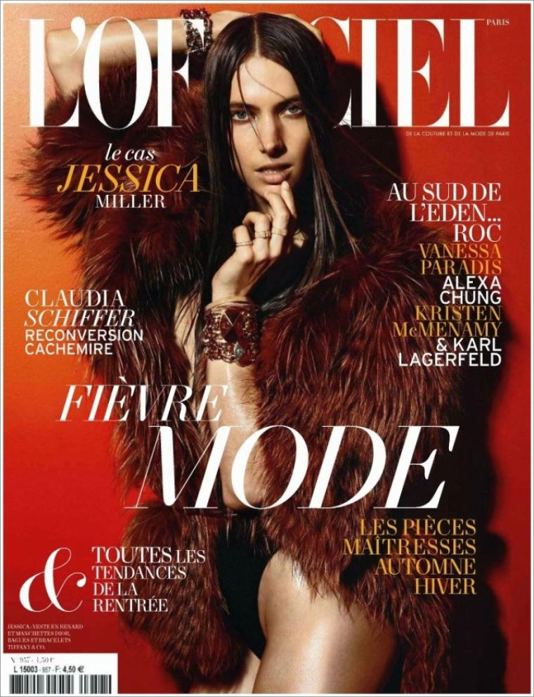 Jessica Miller | L'Officiel Paris Août 2011